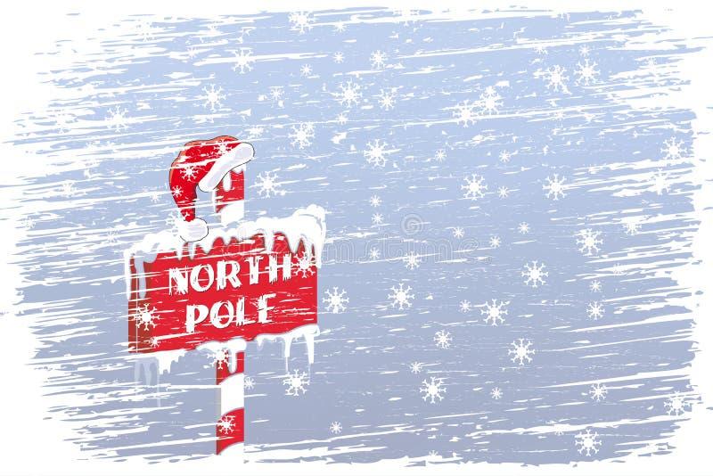 North Pole sign vector illustration