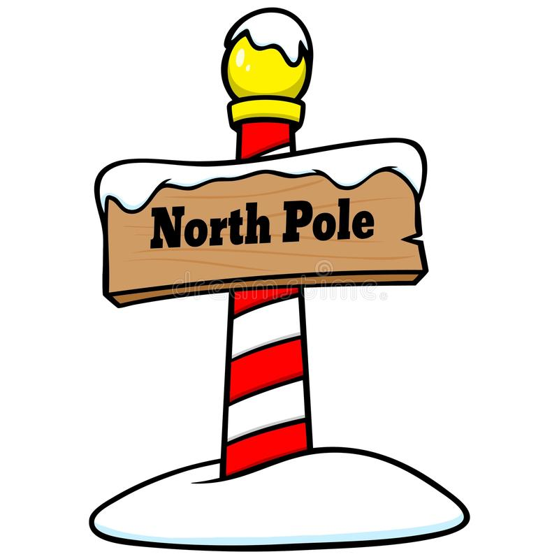 north pole sign stock vector illustration of illustration 72945524 rh dreamstime com clipart north pole north pole clip art images