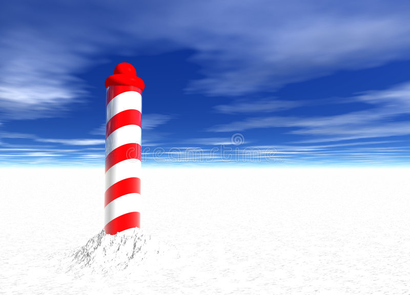 North Pole with Spiral Pattern on Ice. With Sky vector illustration