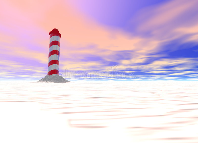 North Pole with Spiral Pattern on Ice. With Sky stock illustration