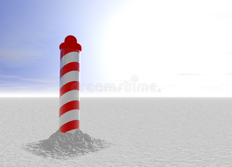 North Pole with Spiral Pattern on Ice. With Sky royalty free illustration