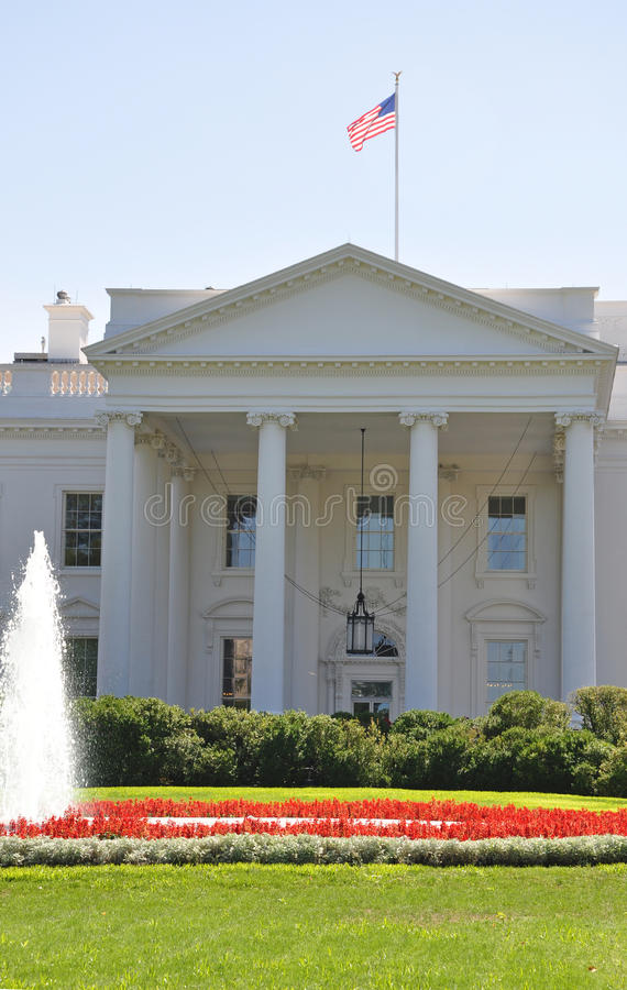 North Portico Of The White House Stock Image