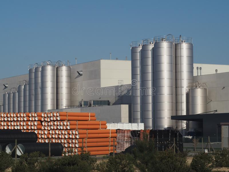 Portugal plastic industrie plant stock photo