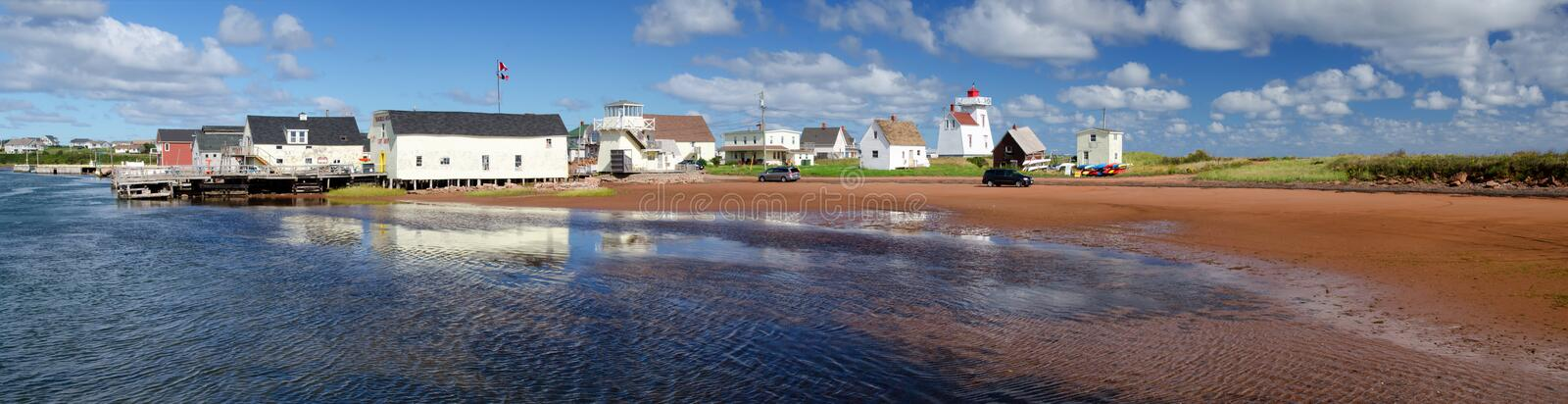 North Rustico, PEI panorama. Fishing village on northern Prince Edward Island, Canada stock photo
