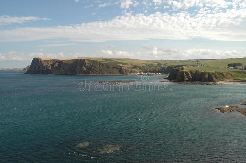 North Sea and Aberdeenshire coastline, Scotland royalty free stock images