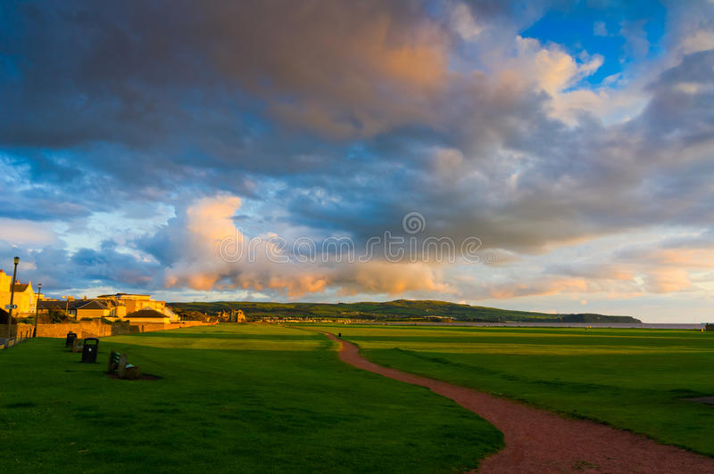 Download North Sea Beach Of Ayr At Sunset Stock Photo - Image of holy, reflection: 23436438