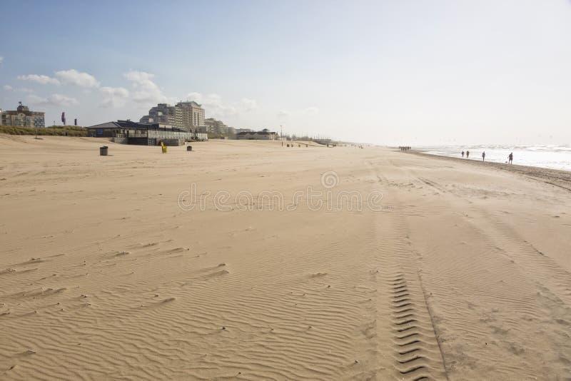 North Sea beach at Noordwijk aan Zee, The Netherlands royalty free stock photo