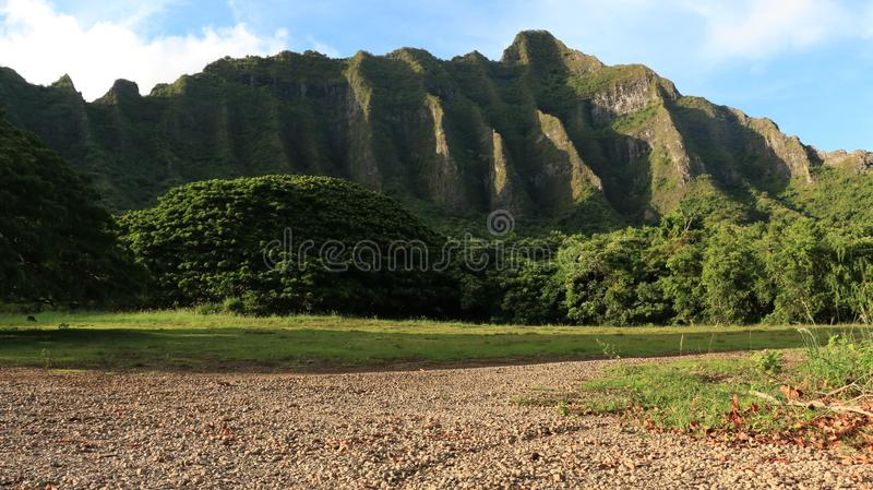 North shore oahu mountain line royalty free stock image