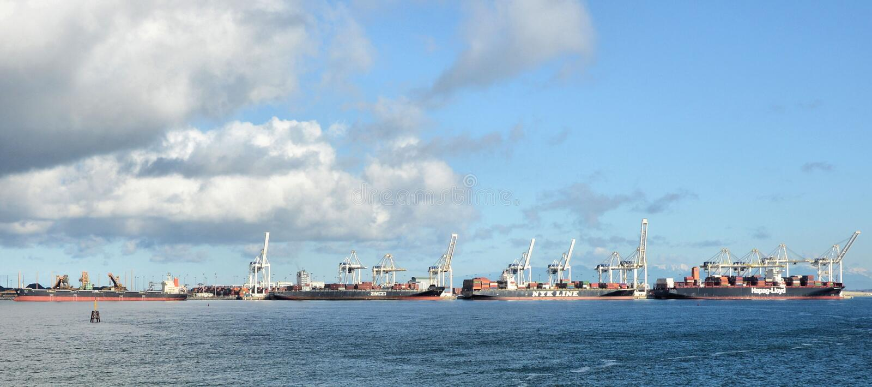 Nort Vancouver sea port stock photo