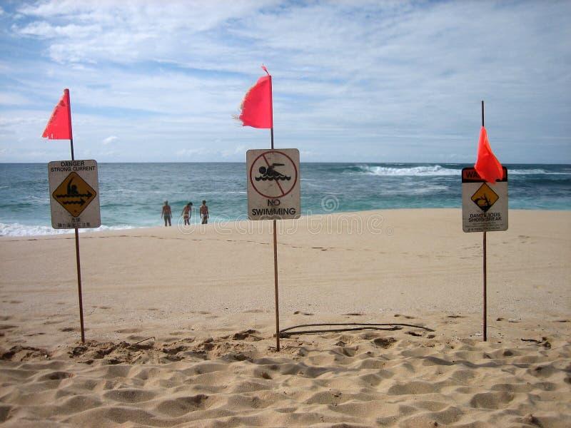 Download North Shore warning 2 stock image. Image of beach, warning - 2751341