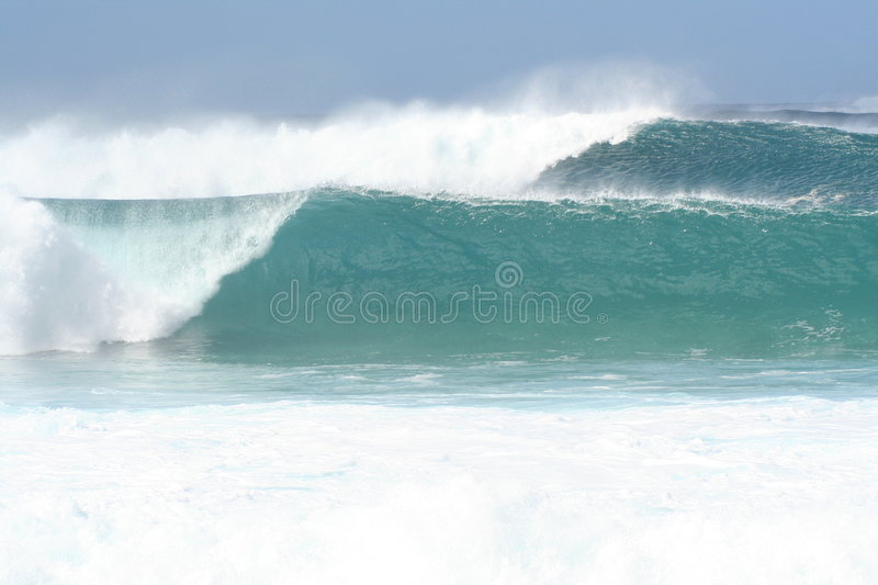 North Shore Waves royalty free stock photography