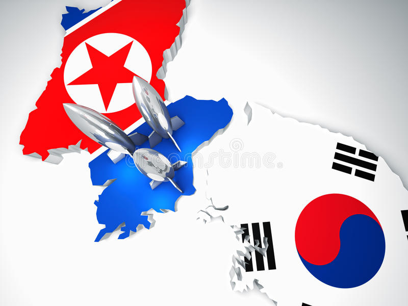 Download North and south korea stock illustration. Image of attack - 17152885