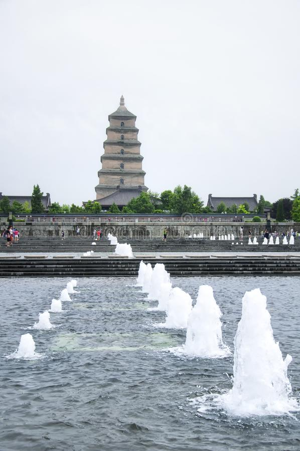 North square tang cultural area Xian China stock image