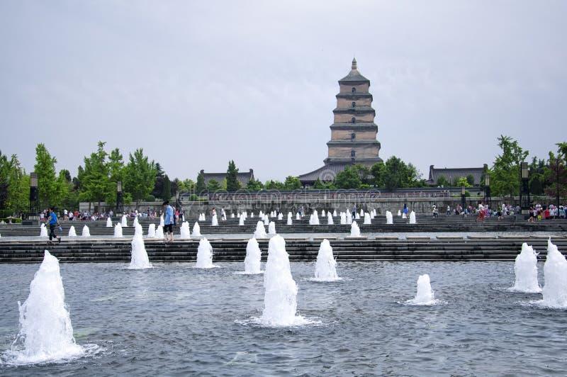 North square tang cultural area Xian China stock photo