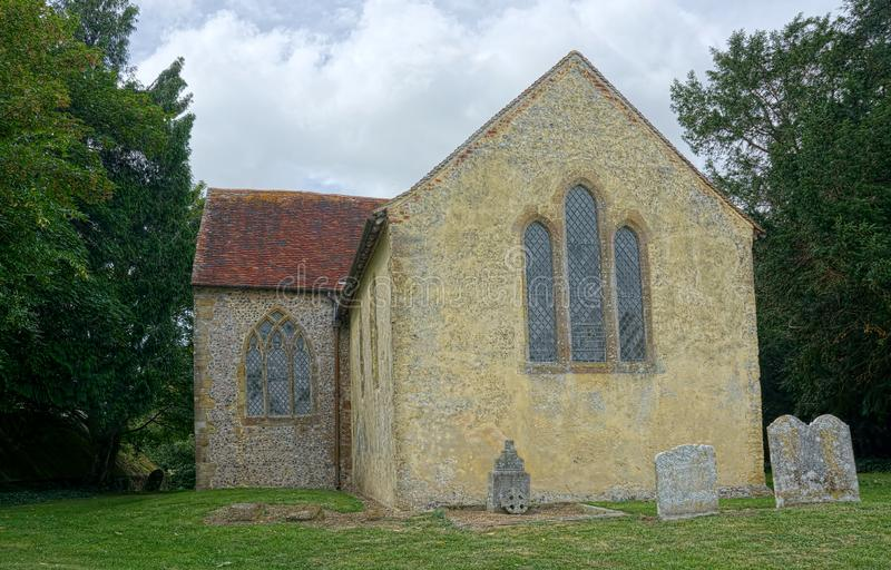North Stoke Church. St Mary The Virgin. Sussex, UK. North Stoke Church, rededicated in 2007 to St Mary the Virgin after its medieval dedication was unexpectedly stock images