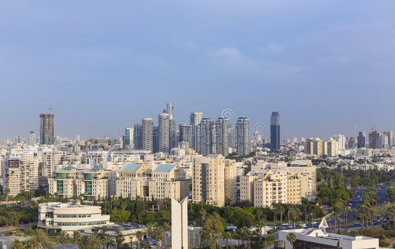 North Tel Aviv Skyline, Tel Aviv Cityscape At Day, Israel royalty free stock images