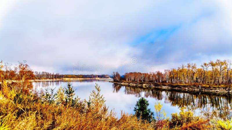The North Thompson River in British Columbia, Canada stock photo