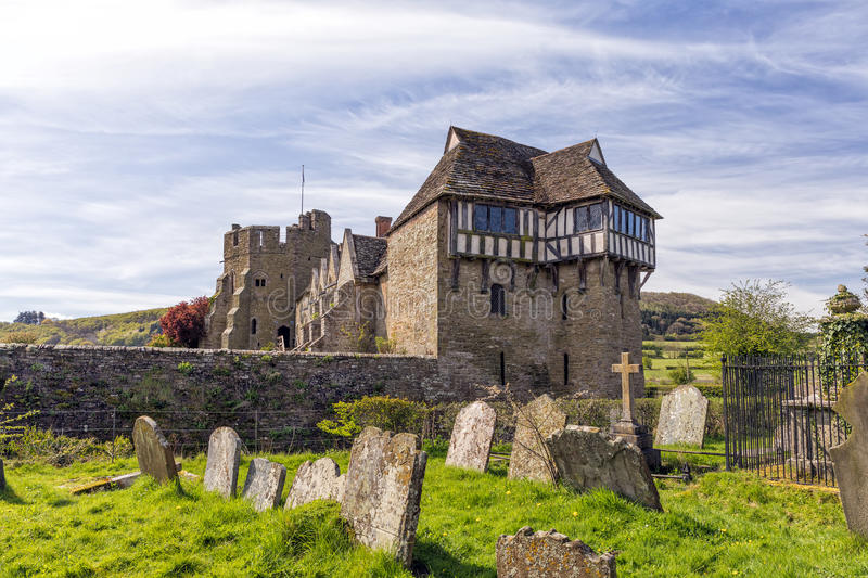 The North Tower, Stokesay Castle, Shropshire, England. royalty free stock image