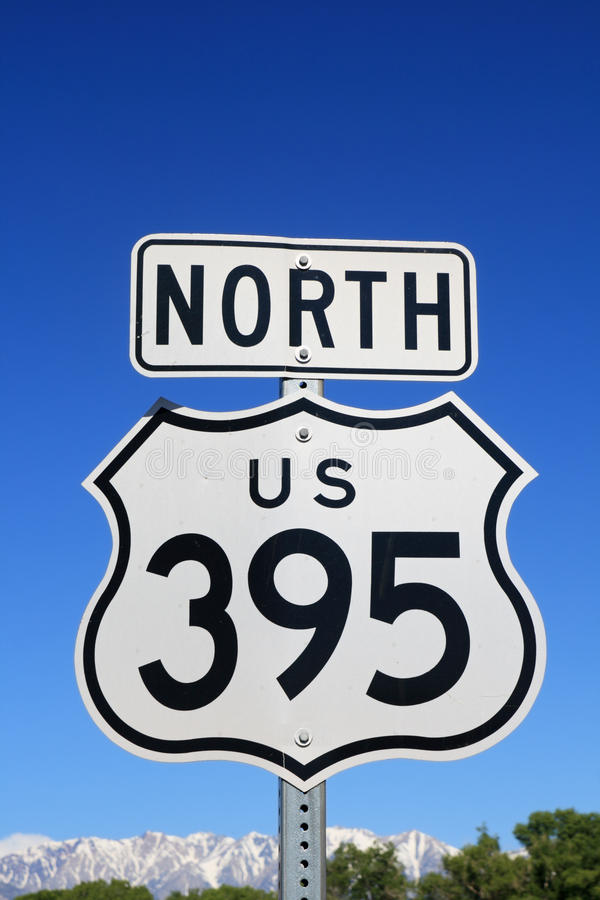 Download North US 395 Sign stock image. Image of north, nevada - 23717889