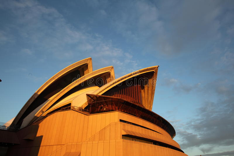 North view of Sydney Opera House at sunrise royalty free stock photo