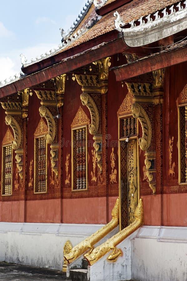 North wall of Wat Sensoukharam, Luang Prabang, Laos stock photos
