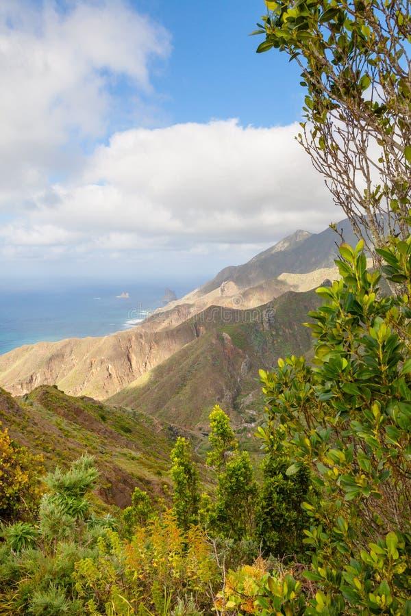 North west coast Tenerife island panorama stock photography