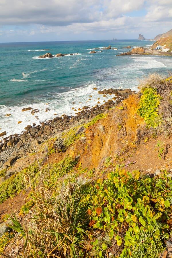 North west coast Tenerife island beach view stock images