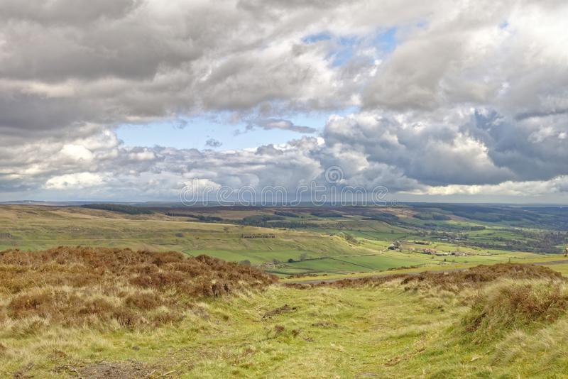 The north york moors, yorkshire, england royalty free stock image