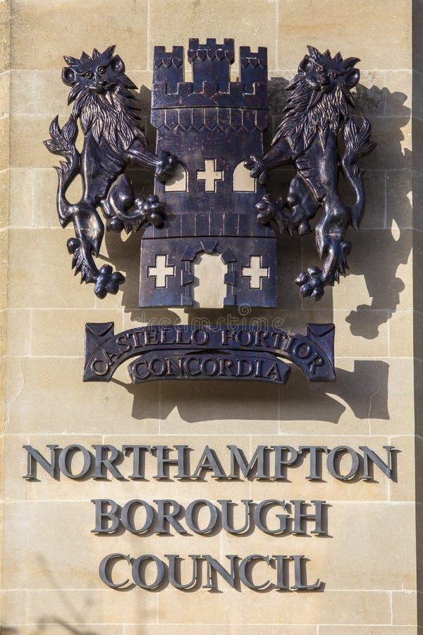 Northampton podgrodzia rada obraz stock