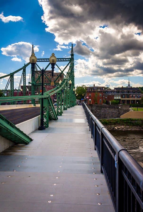 The Northampton Street Bridge over the Delaware River in Easton, Pennsylvania. The Northampton Street Bridge over the Delaware River in Easton, Pennsylvania stock images
