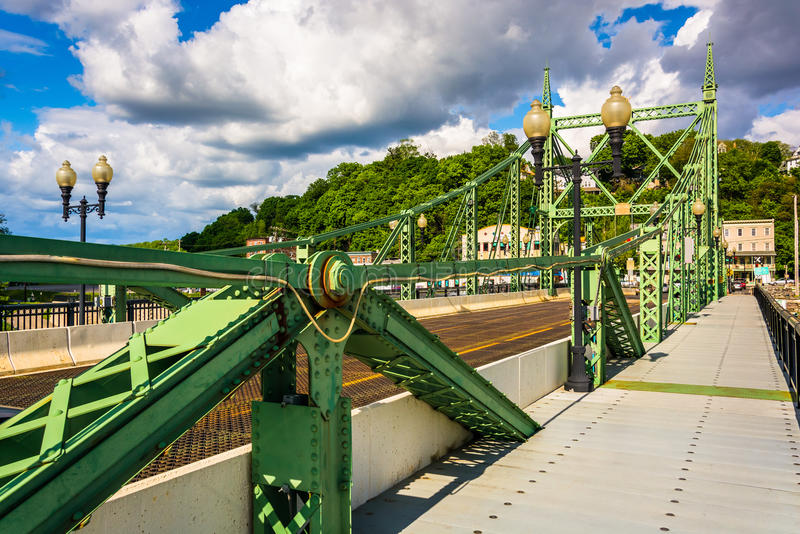 The Northampton Street Bridge over the Delaware River in Easton, Pennsylvania. The Northampton Street Bridge over the Delaware River in Easton, Pennsylvania stock image
