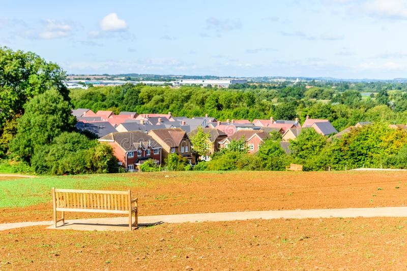 Northampton Town cityscapehorisont Förenade kungariket arkivbilder