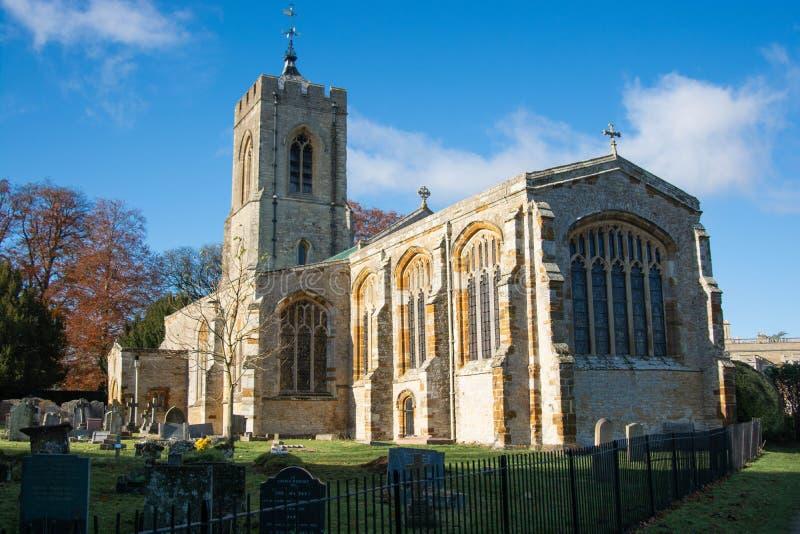 Northampton, U.K., November 18, 2019 - Castle Ashby parish Church on a sunny autumn morning. Northampton, U.K., November 18, 2019 - Castle Ashby parish Church on royalty free stock photos
