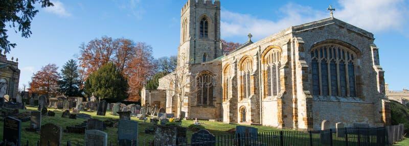 Northampton, U.K., November 18, 2019 - Castle Ashby parish Church on a sunny autumn morning. Northampton, U.K., November 18, 2019 - Castle Ashby parish Church royalty free stock images