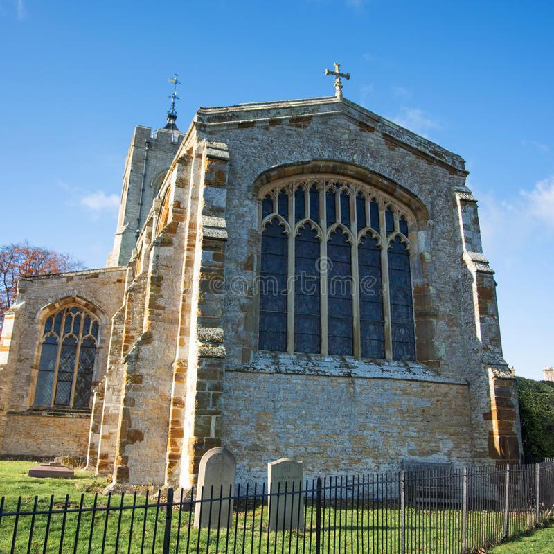 Northampton, U.K., November 18, 2019 - Castle Ashby parish Church on a sunny autumn morning. Northampton, U.K., November 18, 2019 - Castle Ashby parish Church on royalty free stock photography