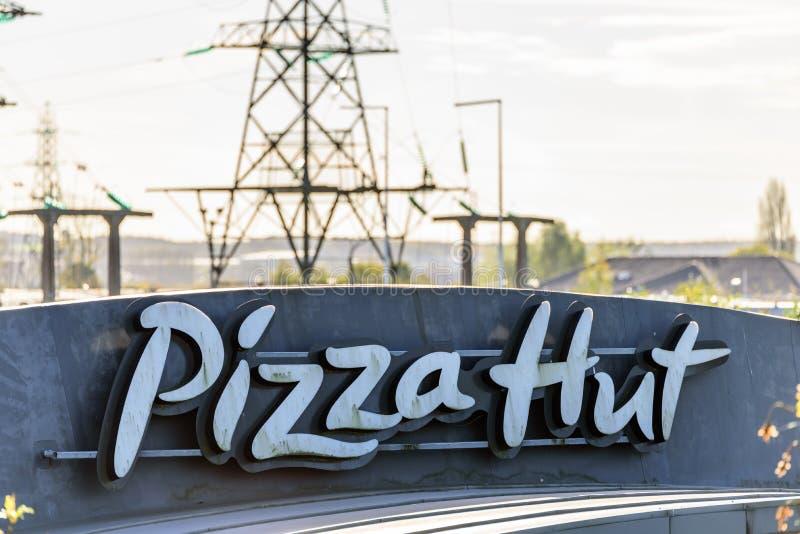 Northampton Uk Oct 25 2017 Day View Of Pizza Hut Logo