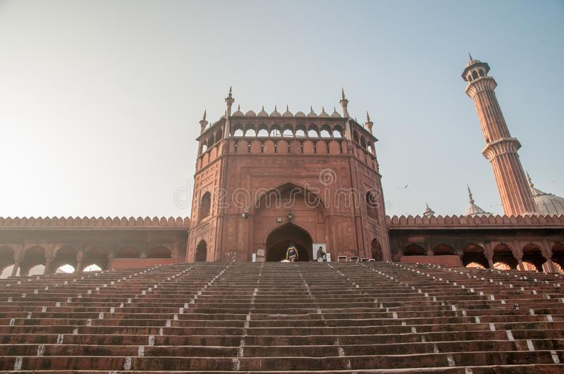 The Northeast entrance to Jama Masjid mosque in Dehli stock photography