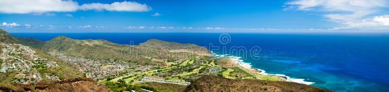 Northeast Oahu Panorama stock photography