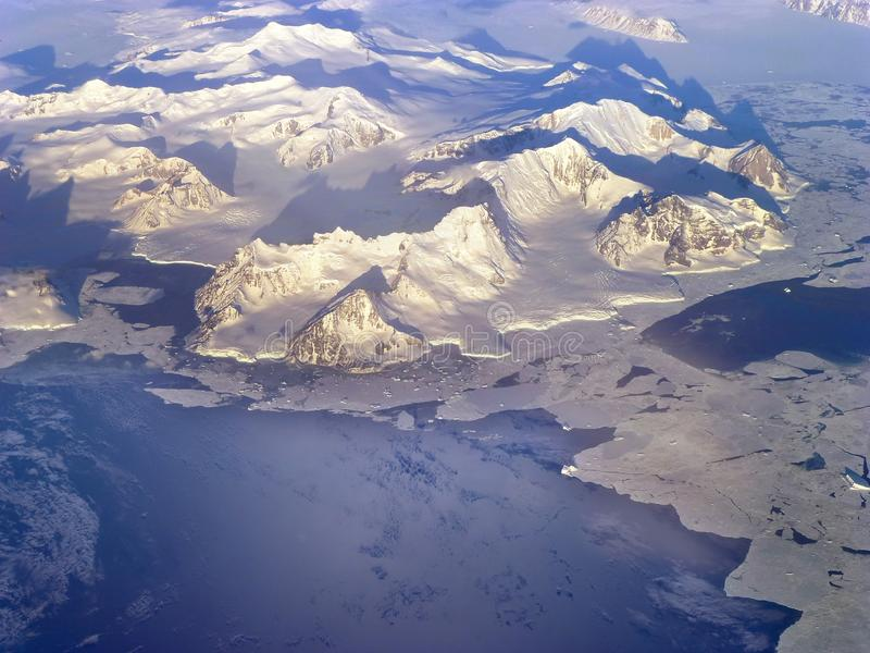 Northern Antarctic Peninsula high altitude view. Elements of this image furnished by NASA stock image