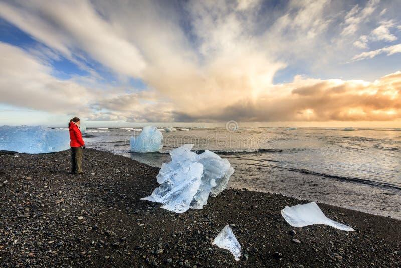 Northern Atlantic beach stock photo