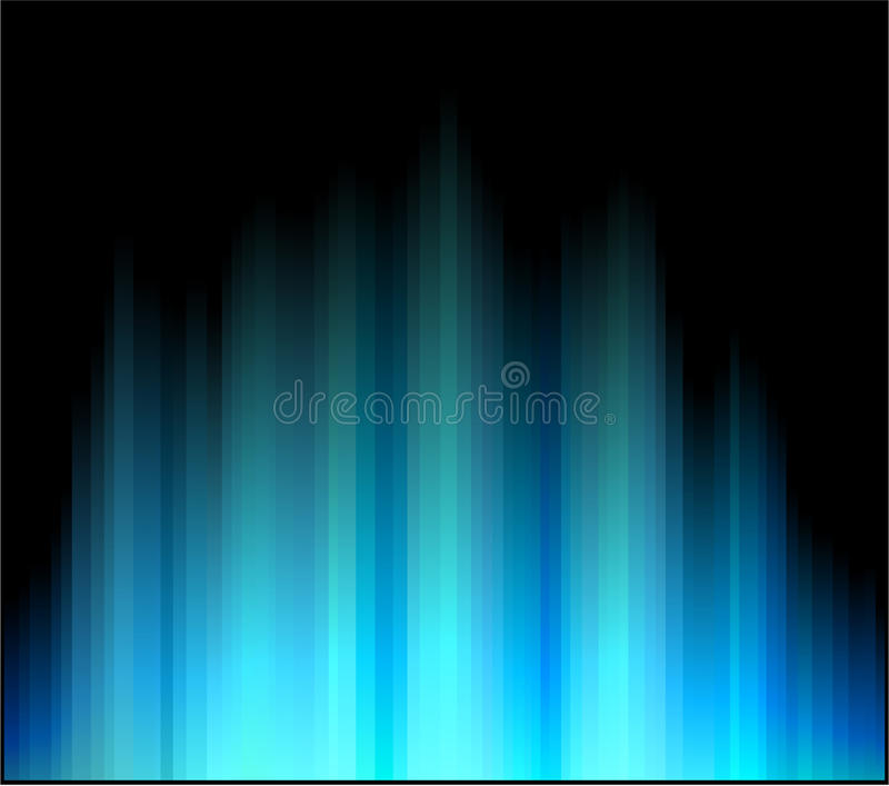 Download Northern aurora. stock vector. Image of abstract, blue - 18519686
