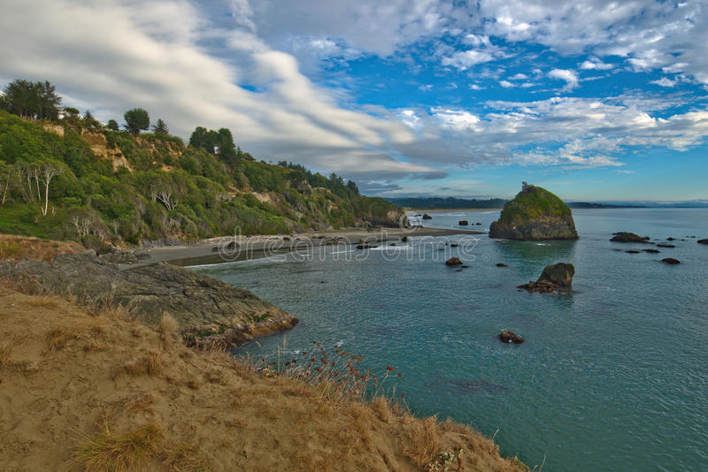 Northern CA near Luffenholtz beach and Trinidad royalty free stock images