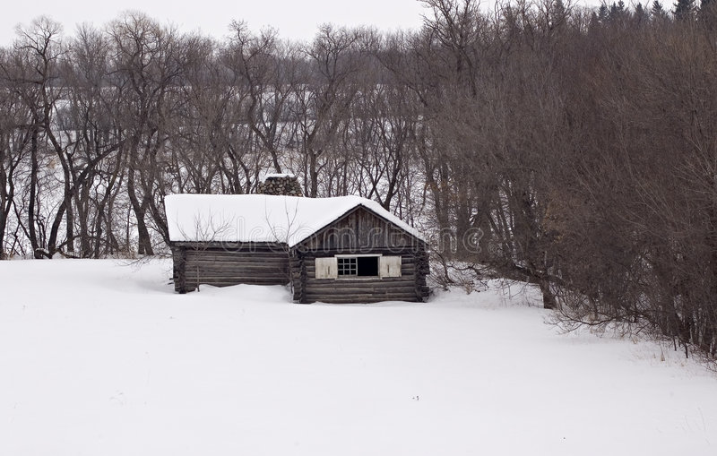 Download Northern Cabin stock photo. Image of cold, snow, pioneer - 73226