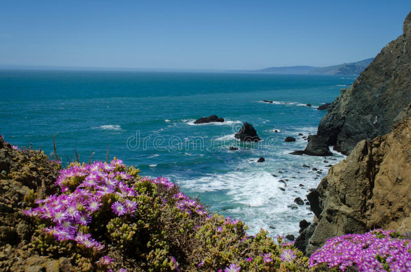Northern California Coast. From the Marin Headlands in the San Francisco Bay Area stock image