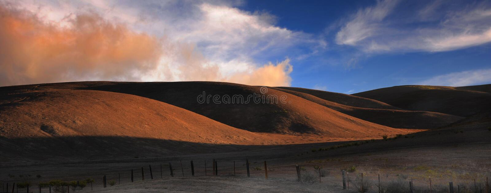 Northern California growing Fields royalty free stock image