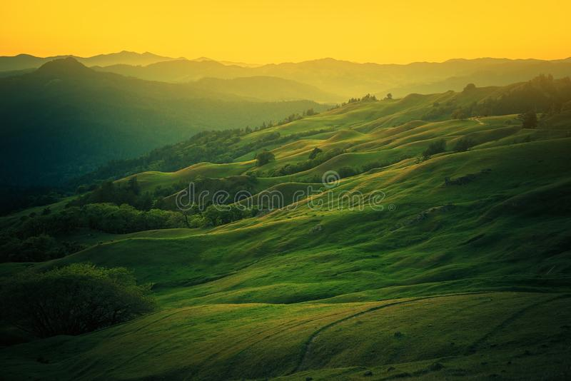 Northern California Landscape. Scenic Vista East From Eureka, Humboldt County, California, United States royalty free stock photos