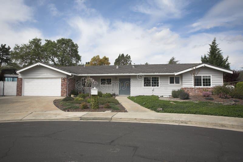 Northern California Subruban Home stock images