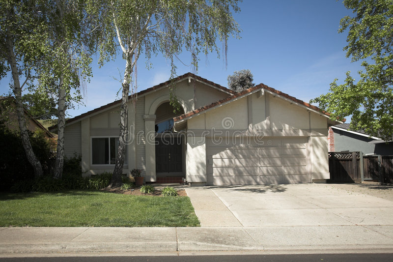 Northern California Subruban Home royalty free stock image