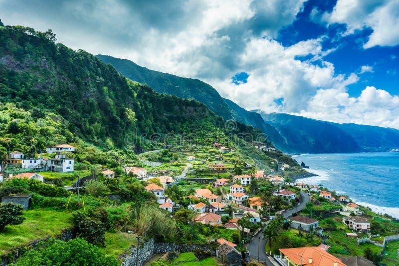 Northern coast of Atlantic coast at Madeira islands stock images