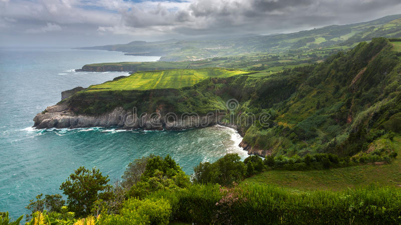 Northern coast of Sao Miguel, Azores Islands royalty free stock photography